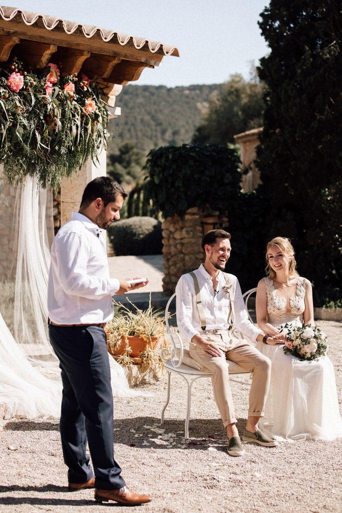 Hochzeitsredner NRW auf einer Freien Trauung mallorca Team martinredet Redner