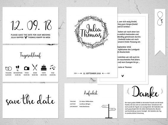 Hochzeitspapeterie für Eure Freie Trauung Design #11 SimplyLove