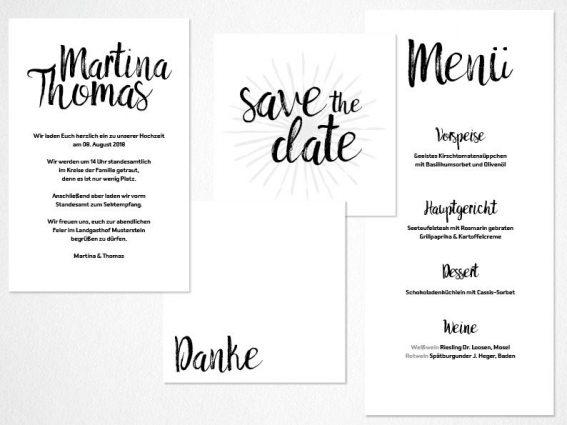 Hochzeitspapeterie für Eure Freie Trauung Design #12 SpeedDate