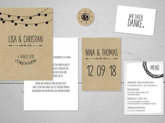 Hochzeitspapeterie für Eure Freie Trauung Design #13 KeepItSimple