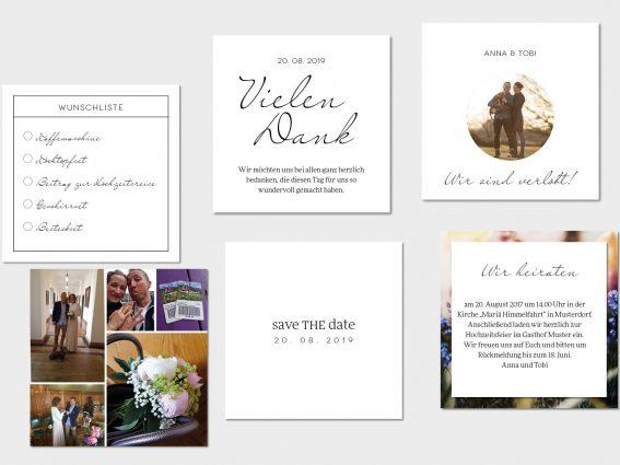 Hochzeitspapeterie für Eure Freie Trauung Design #7 Bohemian