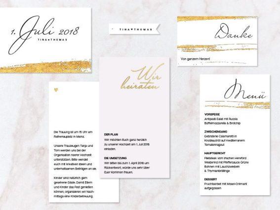 Hochzeitspapeterie für Eure Freie Trauung Design #8 LetItGlow