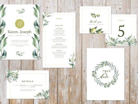 Hochzeitspapeterie für Eure Freie Trauung Design #9 Mediterrana