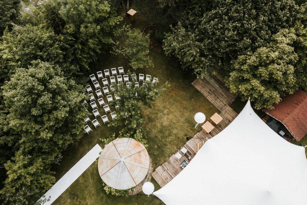 Freie Trauung von oben Hochzeit im Freien Trauredner Martin Fett martinredet