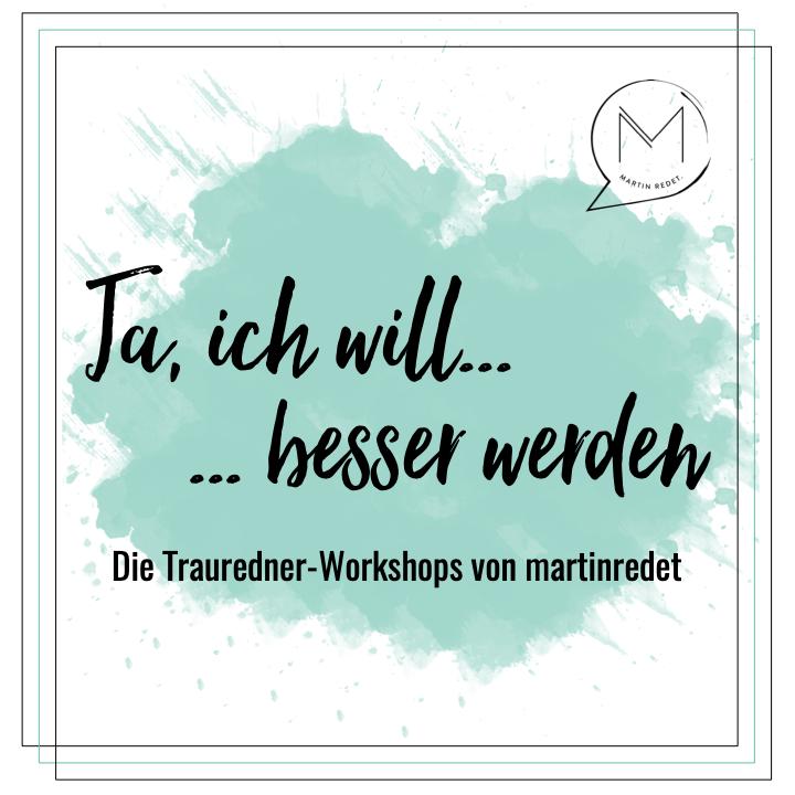 Workshops für Trauredner