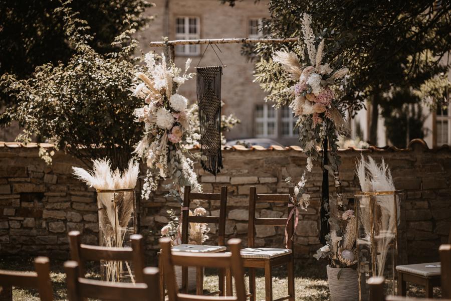Freie Trauung Blumen Titelfoto Trauredner martinredet Hochzeitsdeko Flowers Emotions Heike